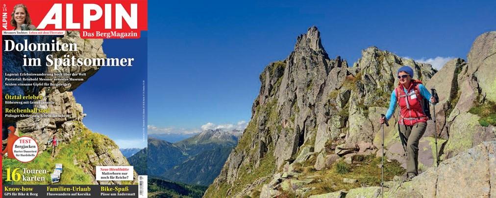 ALPIN September 2015: Dolomiten im Spätsommer