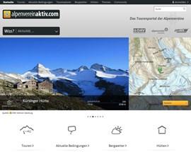Die Startseite von www.alpenvereinaktiv.com