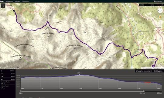 Strecke auf alpenvereinaktiv.com