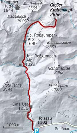 Skitour zum Krottenkopf