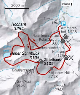 Karte Hocharn