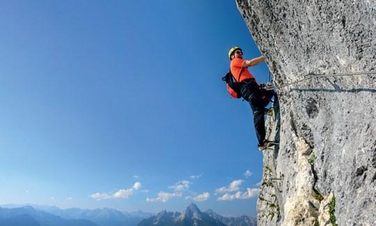 Klettersteig Untersberg : Tourentipp der hochthron klettersteig