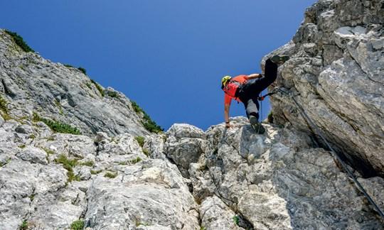 Klettersteig Hochthron : Tourentipp der hochthron klettersteig
