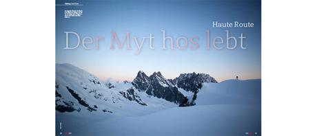 Titelstory aus ALPIN 02/2013: Haute Route