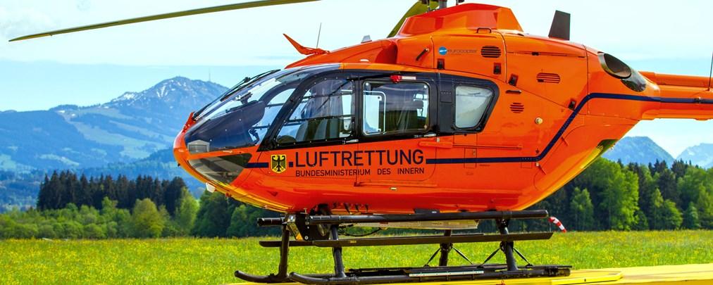 Landung, Heli, Helikopter, Hubschrauber, Luftrettung