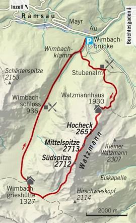Watzmann Karte