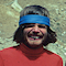 Der junge Reinhold Messner mit modischem Stirnband