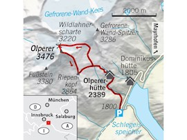 Tourentipp, Olperer, Karte