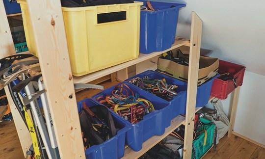 Ausrüstung richtig Lagern