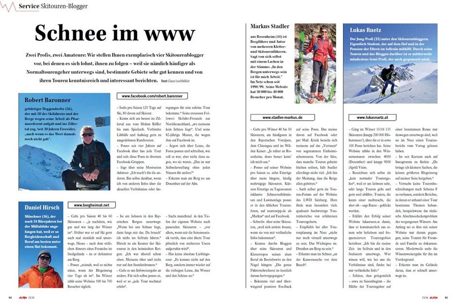Service: Skitouren-Blogger