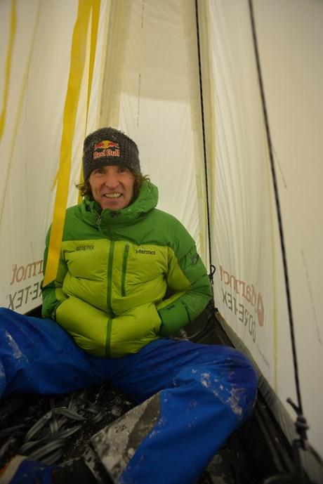 Test im Windkanal mit Stefan Glowacz