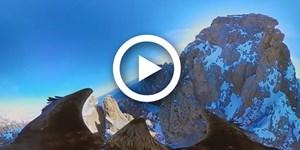 Mit Adleraugen über die Dolomiten
