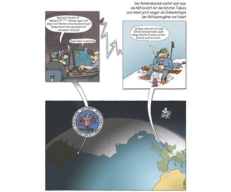 Fotogalerie: Skitouren-Cartoons mit Pointe