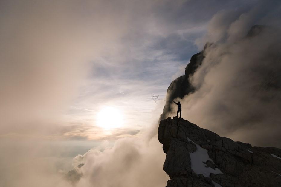 Sonnenuntergang vor der Dachstein-Südwand