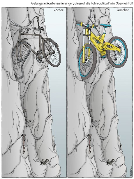 Fotogalerie: Bike-Cartoons mit Pointe