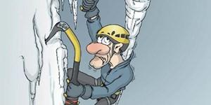 Fotogalerie: Eiskletter-Cartoons mit Pointe