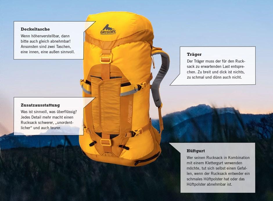 Bester Alpin Klettergurt : Alpinrucksäcke modelle im test