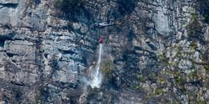 Großbrand bei Klettersteig Echernwand