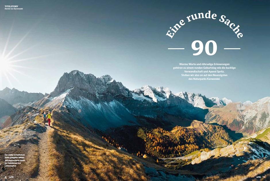 Titelstory Bergherbst im Karwendel