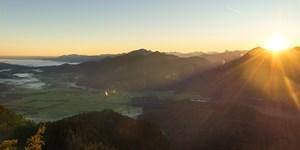 Sonnenaufgang am Ettaler Manndl