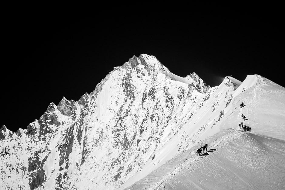 Aufstieg zum Nadelhorn