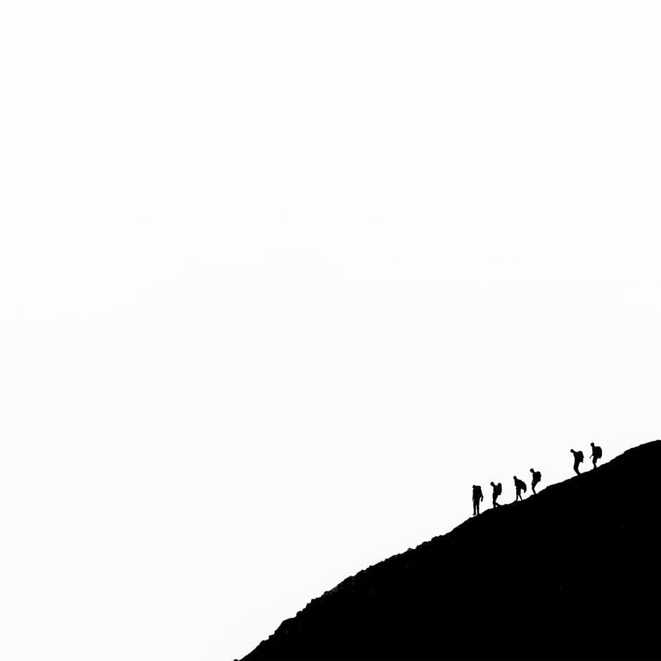 im Abstieg