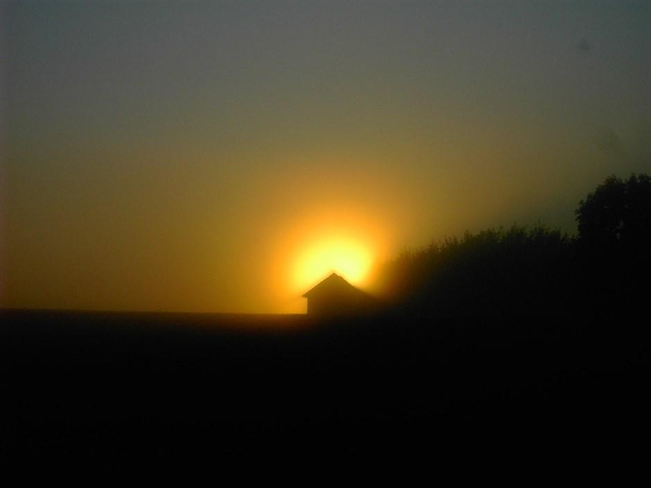 Hütte in Flammen