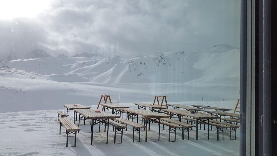 Ruhe im Skigebiet