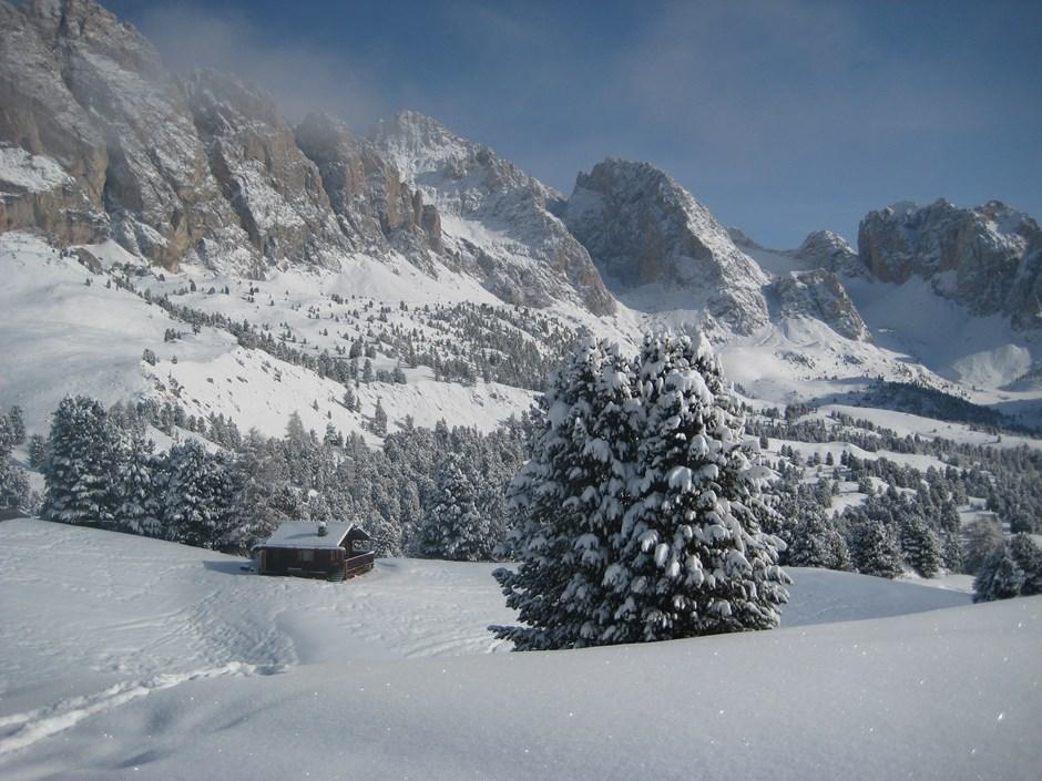Neuschnee am Col Raiser