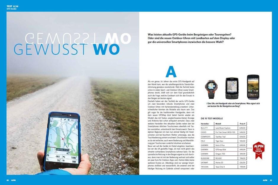 Test: GPS-Geräte, Handys & Smartwatches