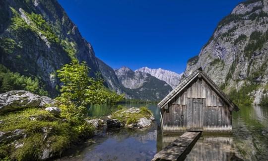 Sieht aus wie gemalt: Der Obersee in den Berchtesgadener Alpen.