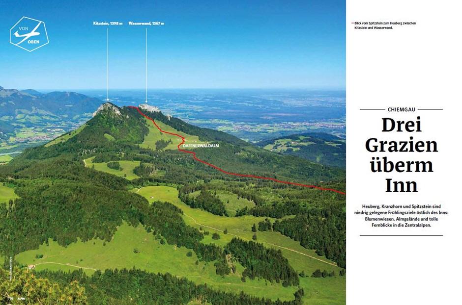 Von oben: Chiemgau