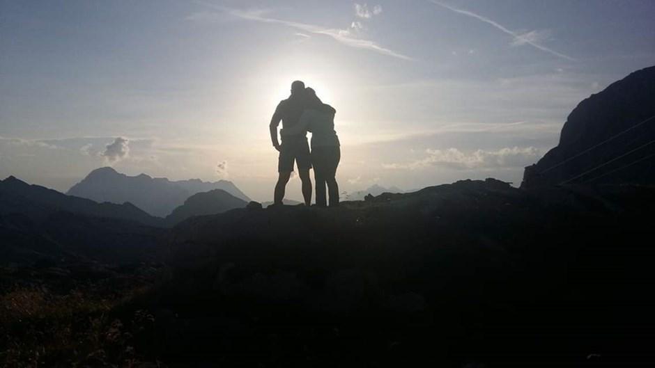 Gemeinsam den Sonnenuntergang erleben