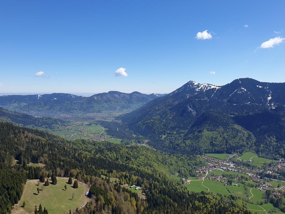 Blick vom Gipfel Richtung Tegernsee
