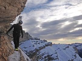 Lawinengeschützt zum Gipfel der Tofana di Mezzo