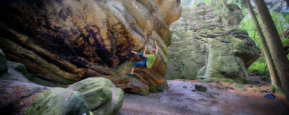 Unterwegs im Fels