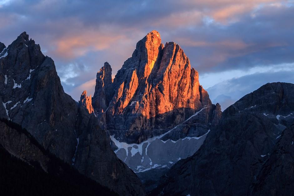 Alpenglühen am Zwölferkofel