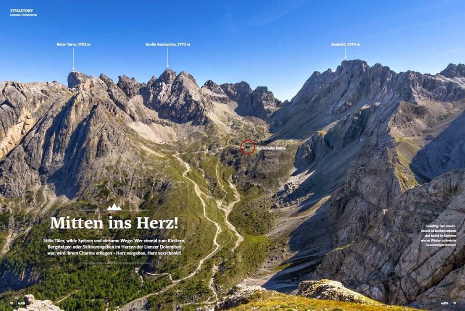 Titelstory - Traumtouren in den Lienzer Dolomiten