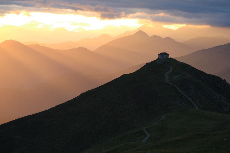 Sonnenuntergang am Karnischer Höhenweg