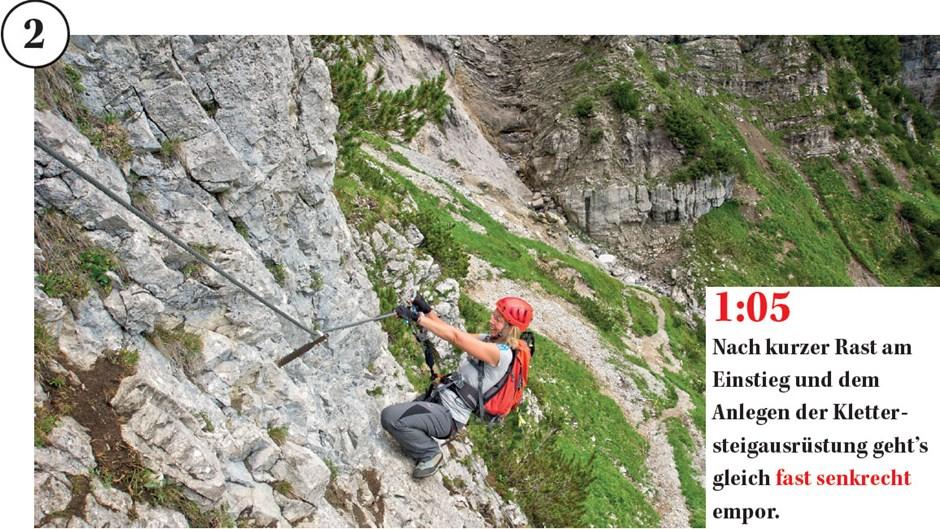 Klettersteig Klamml : Schwerer klettersteig klamml