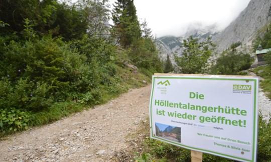 Wieder eröffnet: Die Höllentalangerhütte auf dem Weg zur Zugspitze.