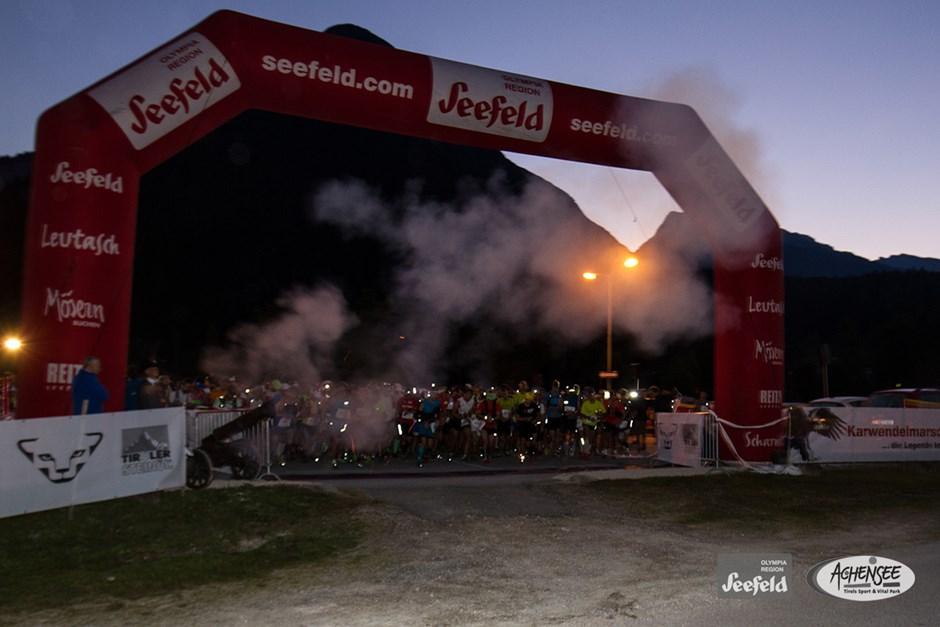 Start in Scharnitz um 06:00 Uhr morgens