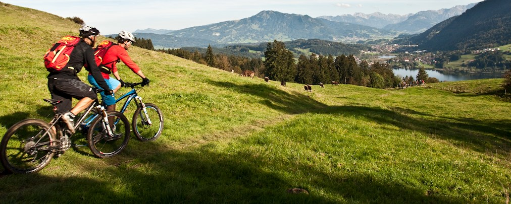 Mountainbiken in Oberstaufen