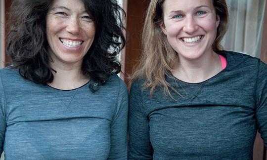 Das Odlo-Shirt warf bei den Testdamen Falten an der Brust.