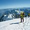 Weit reicht der Blick vom höchsten Gipfel der Alpen