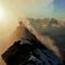 Ein Berg mit zwei Gipfeln