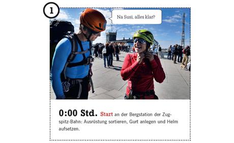 ALPIN 05/2014: Schritt für Schritt - Zugspitze Jubiläumsgrat