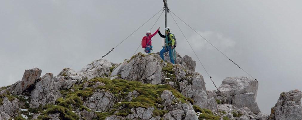 Leichte alpine Klettertour über den Nordgrat