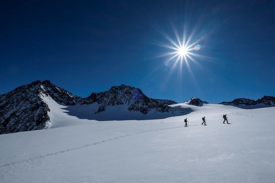 Aufstieg am Alpeiner Ferner