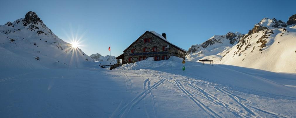Grialetschhütte, Skitouren, Piz Grialetsch, Schwarzhorn, Piz Sarsura